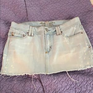 Abercrombie and Fitch denim embellished skirt